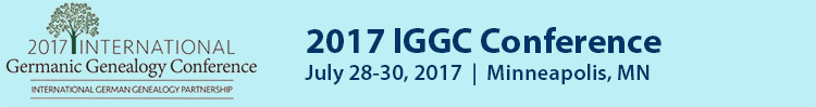 2017 International Germanic Genealogy Conference