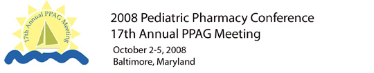 17th Pediatric Pharmacy Conference 2008