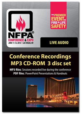 18345 - Complete 2012 NFPA Conference Audio Recordings MP3 CD-ROM